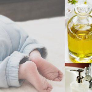 Liniment à base d'huile d'olive pour soin naturel de bébé
