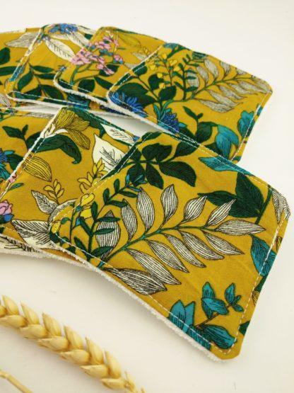 Lingettes fleuries moutarde