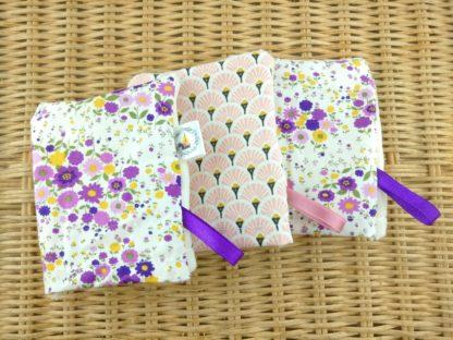 Mini gants fleurs et éventails