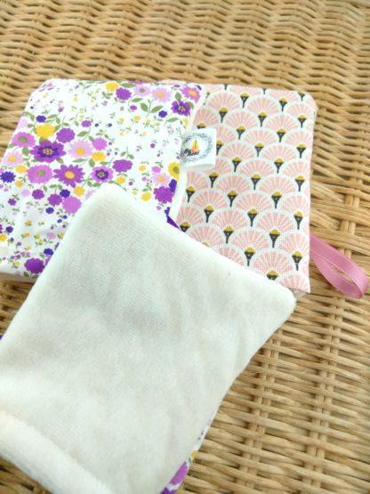 Mini gants fleurs et éventails détail velours de coton biologique