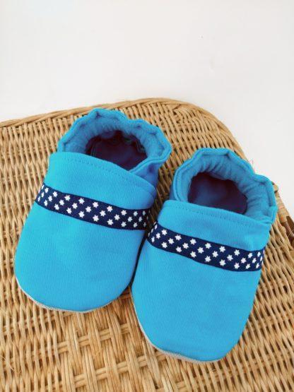 Chaussons By Aeni turquoise avec ruban étoilé