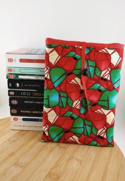 Pochettes à livres détail rouge et vert