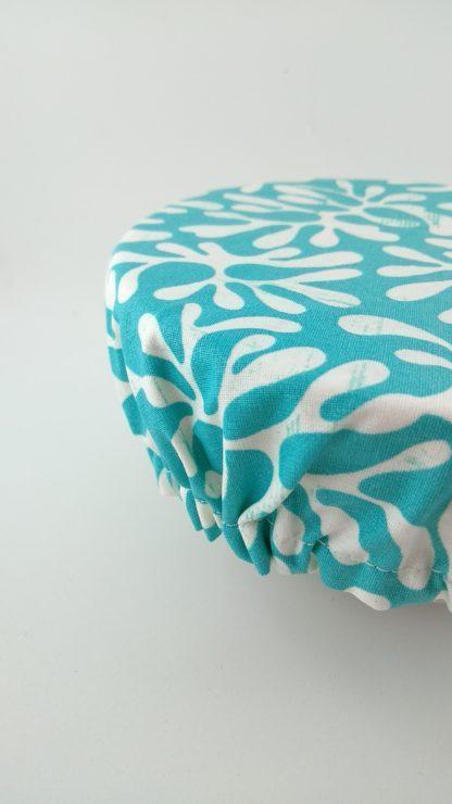 Charlotte à saladier corail turquoise élastique