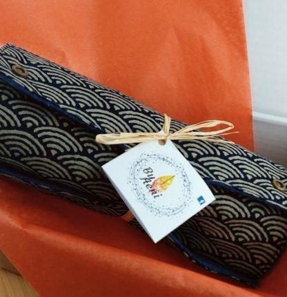 Essuie-tout lavable 100% coton Seigaiha vagues