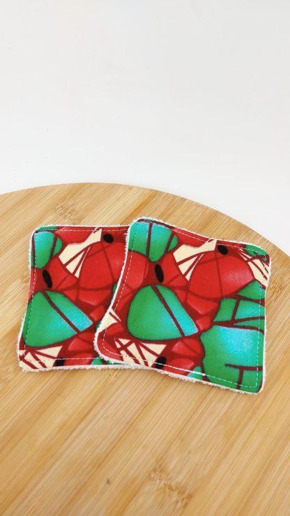 Lingettes wax rouge et vert