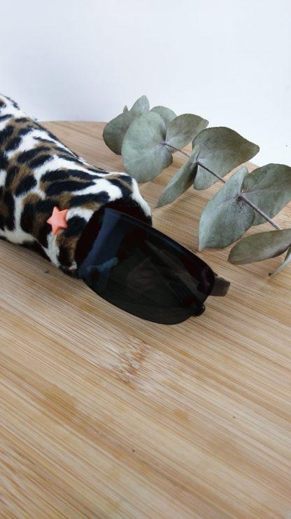 Etui à lunettes léopard