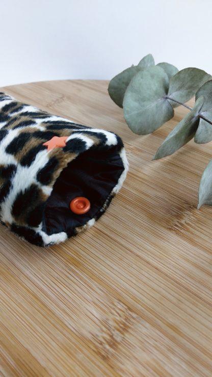Etui à lunettes léopard détail