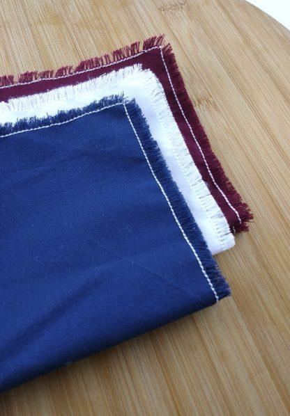 Mouchoirs lavables en coton détail
