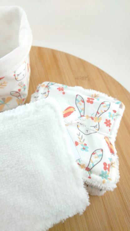 Lingettes et panière lapins épongedétail