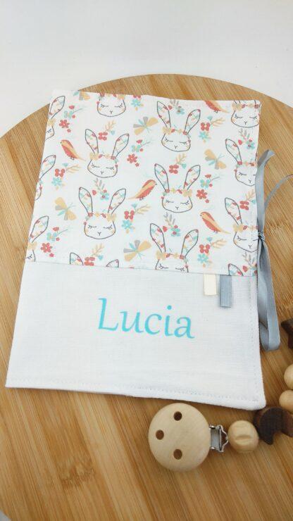 Protège carnet lapins
