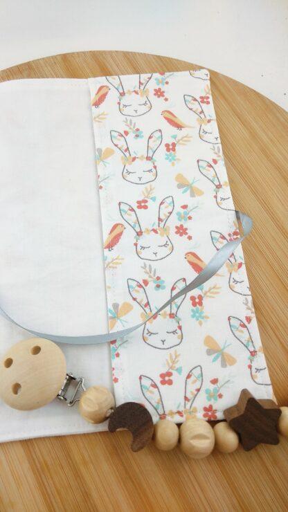 Protège carnet lapins rabat