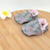 Chaussons bébé gris et rose