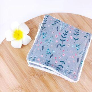 Lingettes lavables petites fleurs
