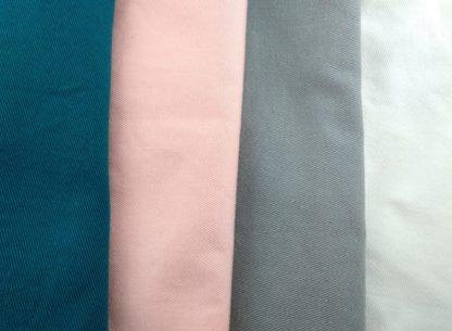 Tissus pour chaussons souples bébé personnalisables, bleu canard, rose, gris ou blanc
