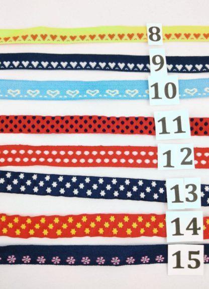 Rubans pour chaussons souples bébé personnalisables numérotés de 8 à 15