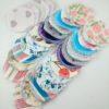 15 paires de cotons démaquillants lavables à motifs variés et colorés
